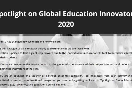 Edu Compaign Spotlight on Global Education Innovators 2020