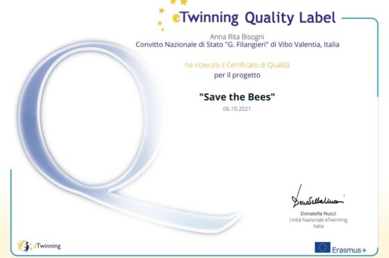 """Progetto Etwinning """"Save the Bees"""""""